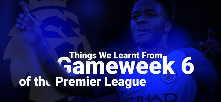 Gameweek 6 lessons