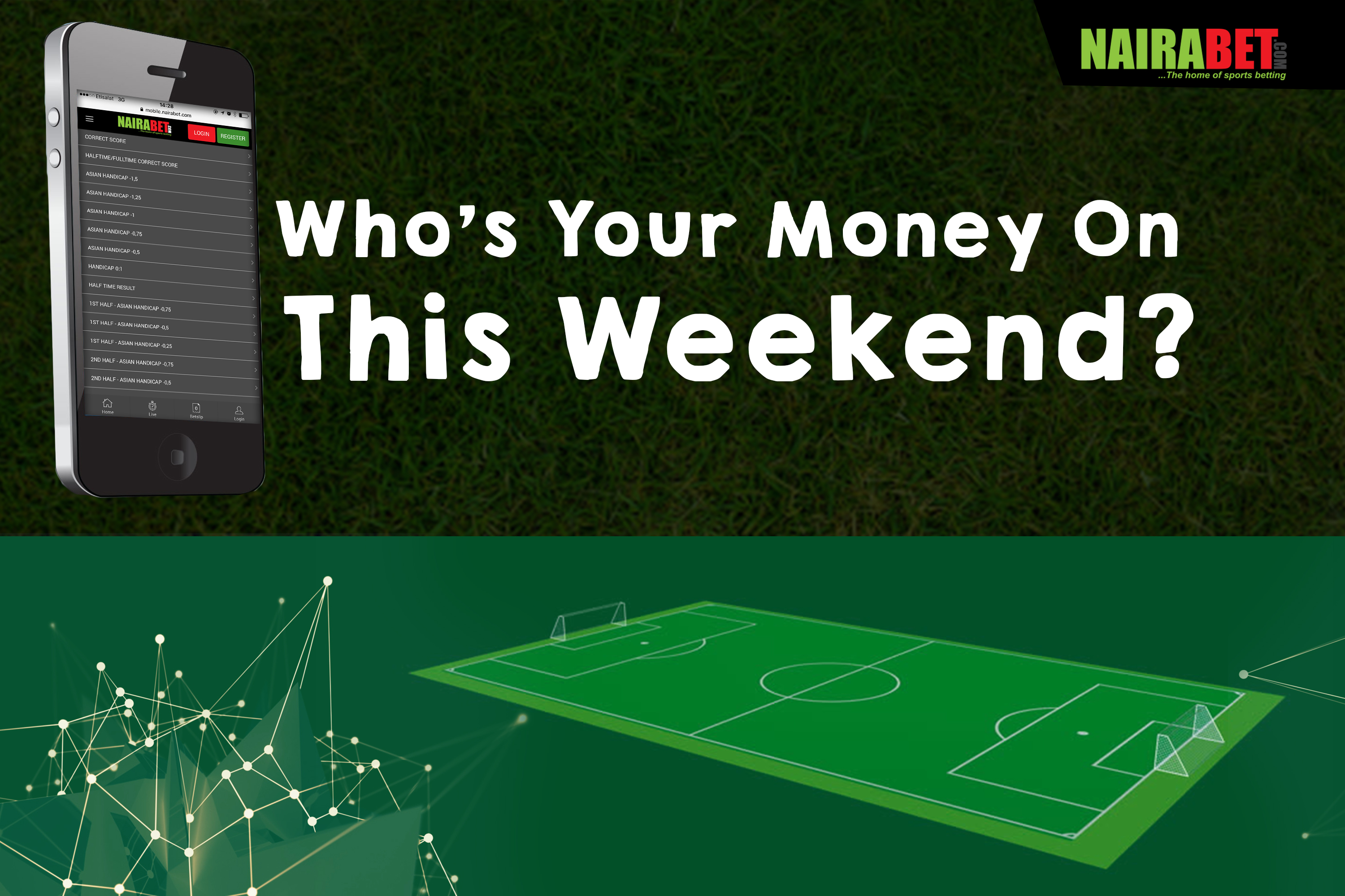 Who's Your Money On This Weekend