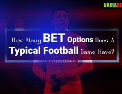 bet options in a typical football game