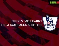 epl Gameweek 5 lessons