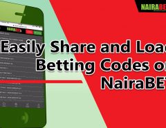 share and load betting code on NairaBET