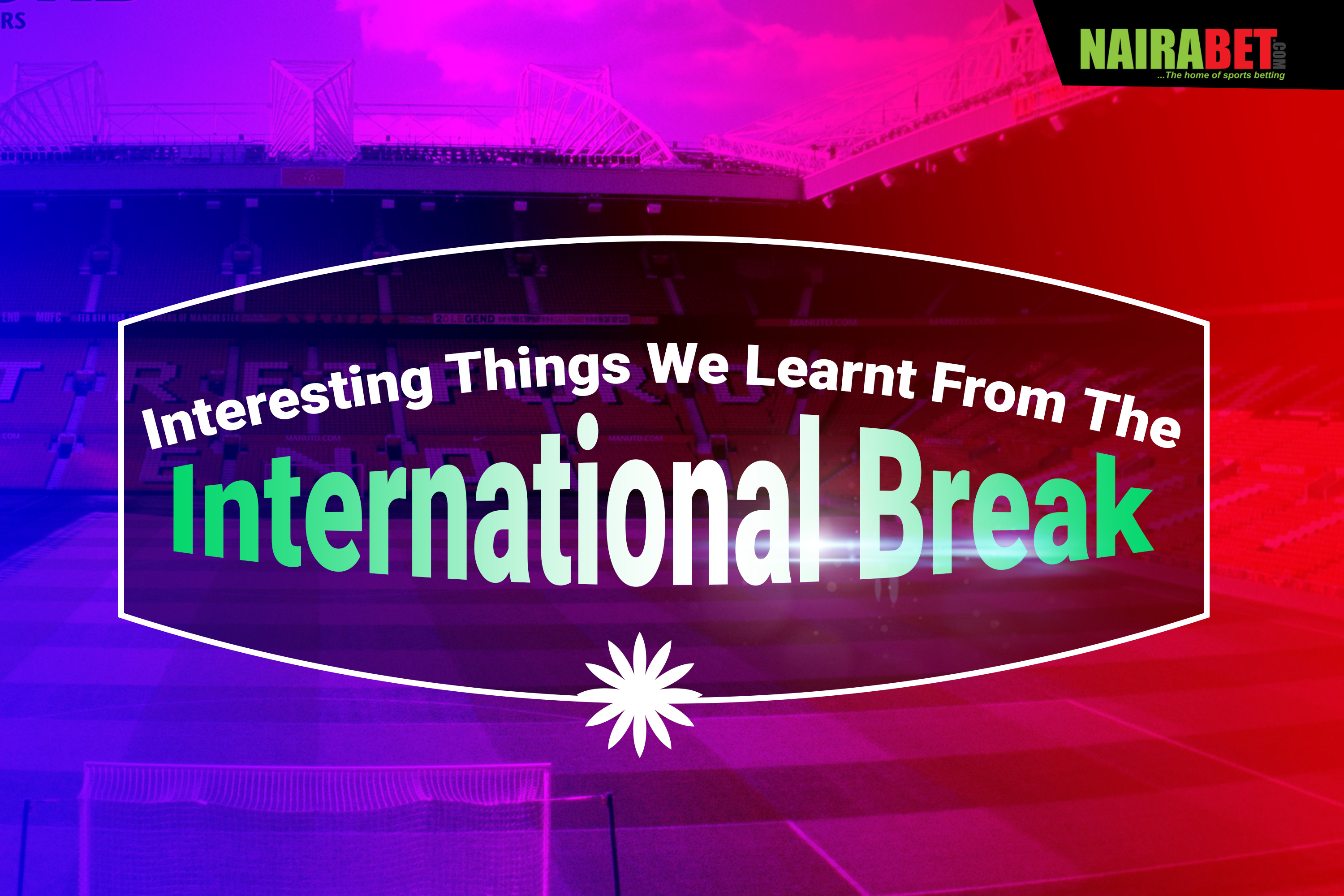3 international break lessons
