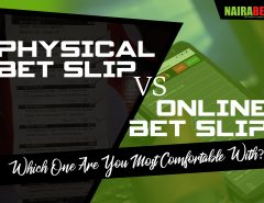 physical vs online bet slip