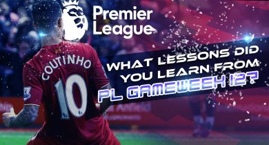 PL gameweek 12 lessons