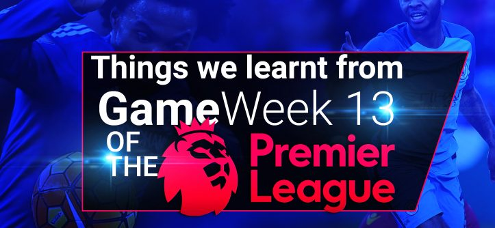 PL gameweek 13 lessons