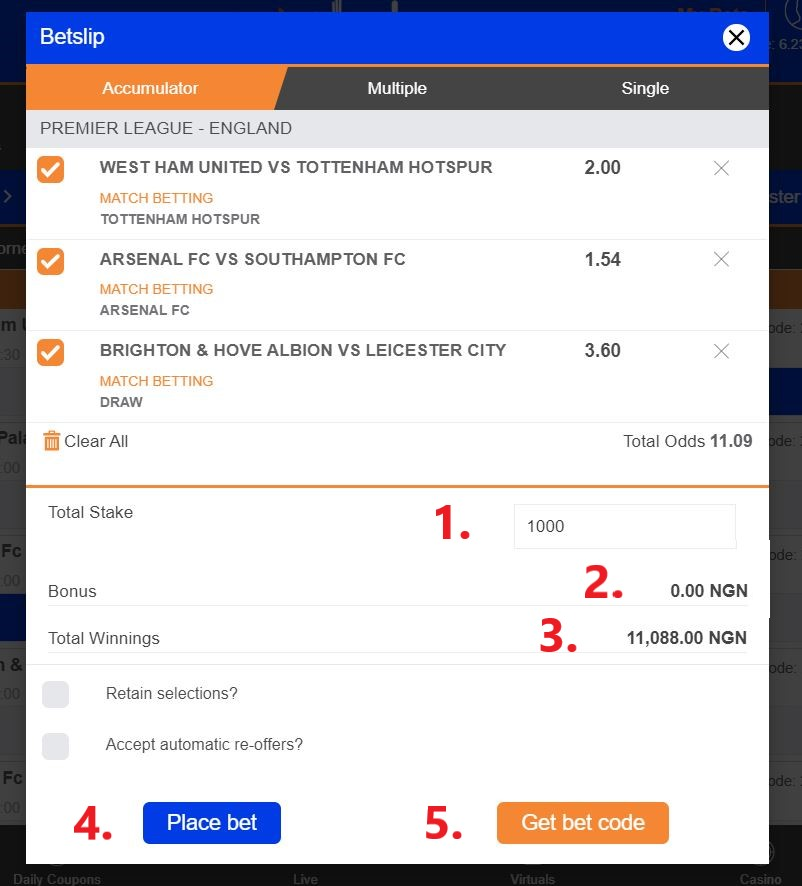 How to bet on nairabet horse betting cost calculator
