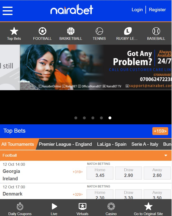 How to place bet on nairabet com betting soccer moneyline