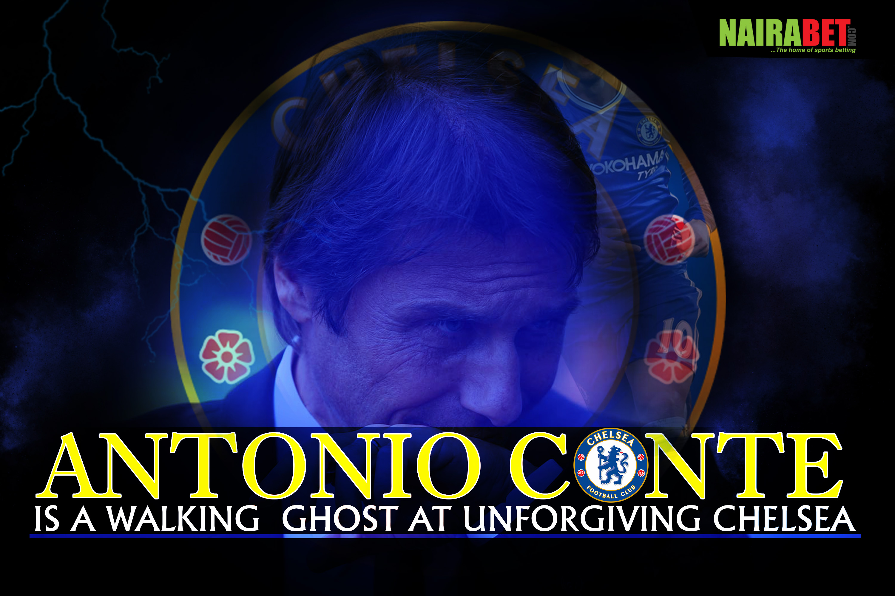 conte walking ghost at chelsea