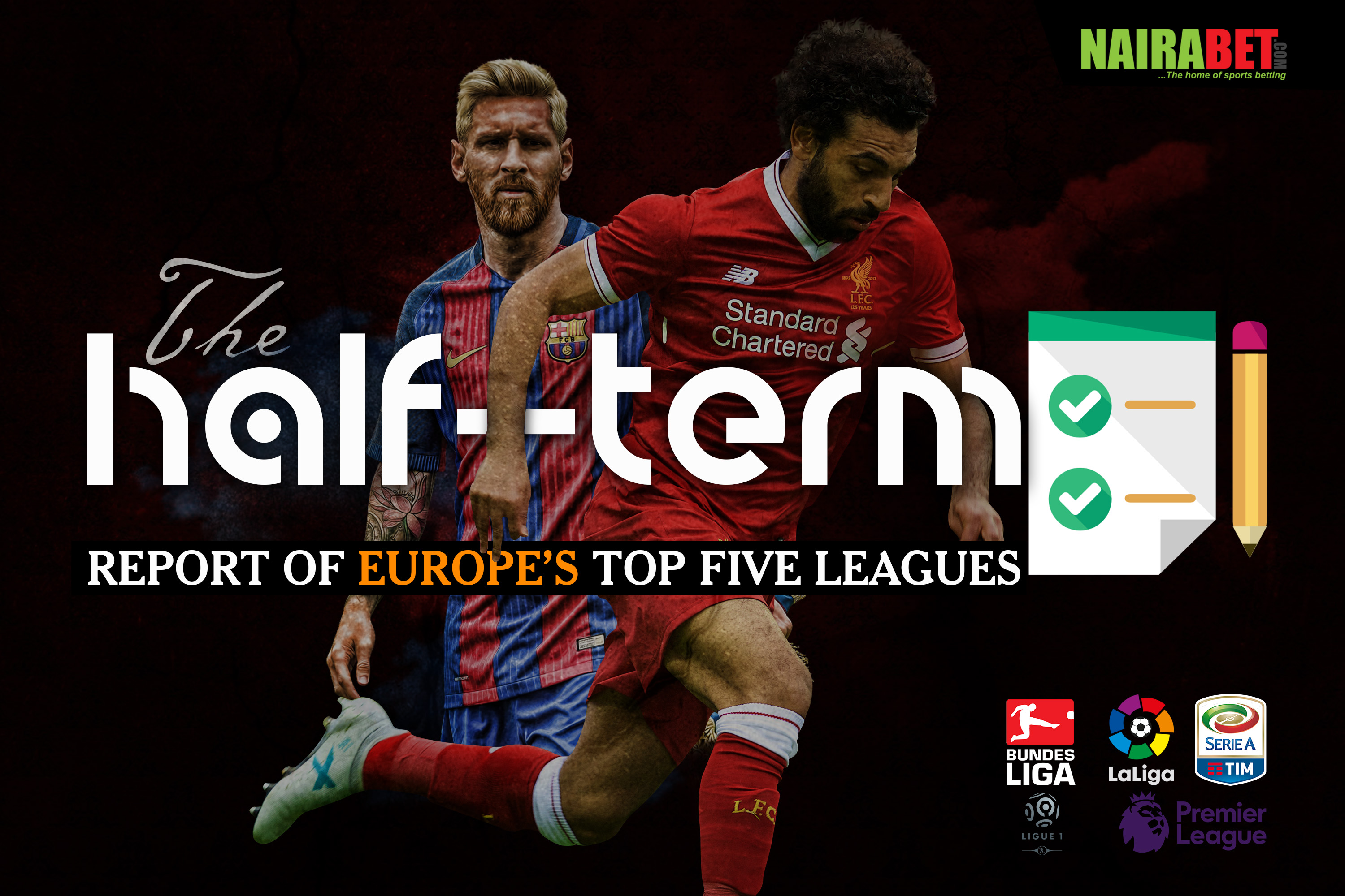 half term report european leagues
