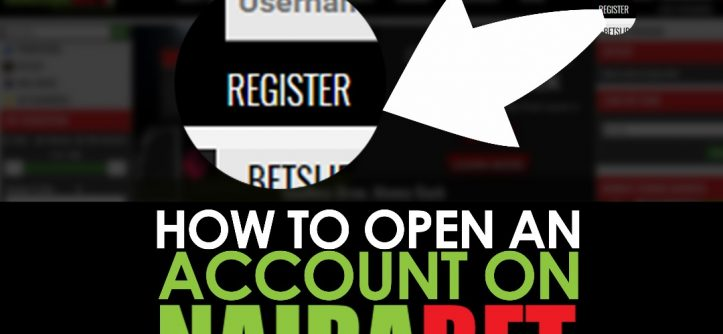 how to open a NairaBet account