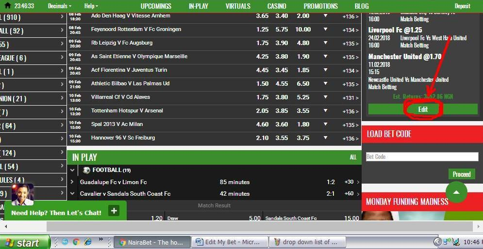 NairaBET Now Allows You to Edit Your Bets Even After Placing