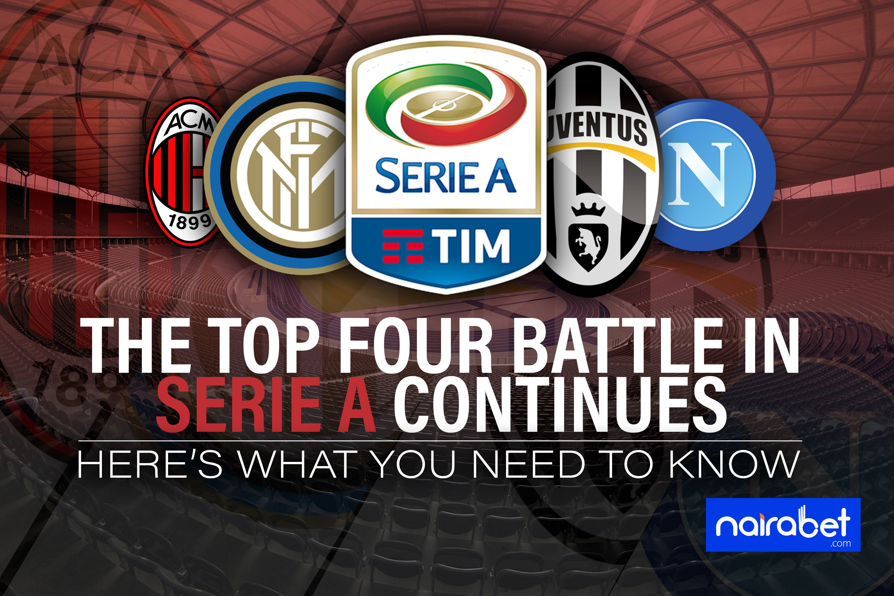serie a top four battle