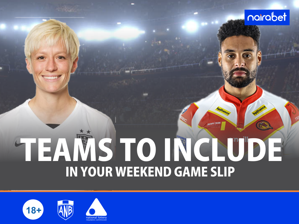 Teams to Include in Your Weekend Game Slip