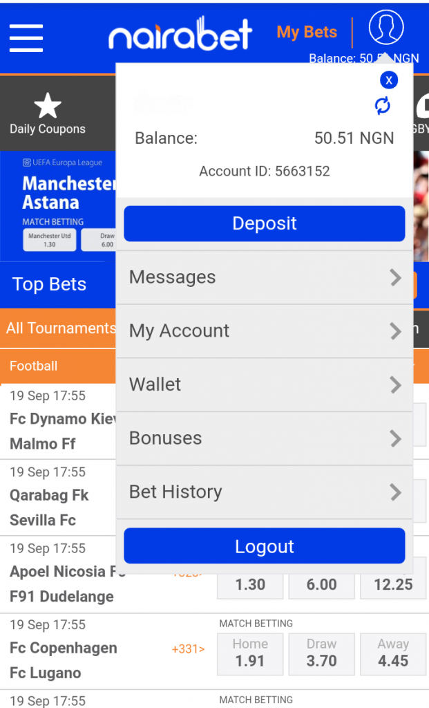 How to Fund Your NairaBET Account