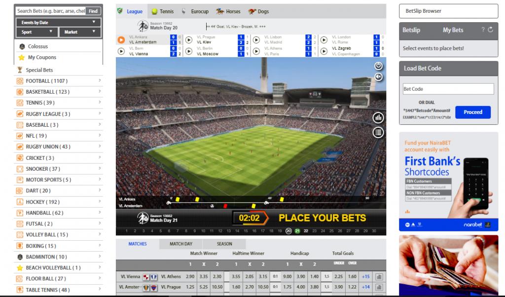 NairaBET Virtuals Homepage 1